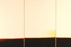 11. Horizonte 1, 2003, papel fotografico encontrado, sobre madera. 30 x 100cm