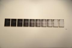 13. Estela Belica 2017, pruebas de offset encontradas, montadas sobre bastidor y vidrio. 50 x 35cm c/u  total.  50 x 350 cm