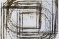 Registro cuadro y semiovalos 2017.  Impresión de placa industrial sobre papel Hahne Müller 300 gr.  21 x 20 cm. Edición de 14