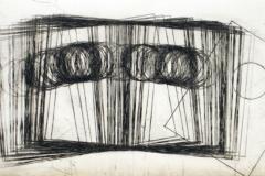 egistro chico movimiento y circulos.2010. Impresión de placa industrial sobre papel Hahne Müller 300 gr.  29 x 47 cm.  Edición 8