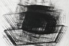 10. Registro movimiento piramidal.2010 Impresión de placa industrial sobre papel Hahne Müller 300 gr.  56 x 66 cm.  Edición de 8