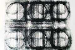 Registro grande 04  2017.  Impresión de placa industrial sobre papel Hahne      Müller 300 gr.  78 x 95 cm. Edición de 08